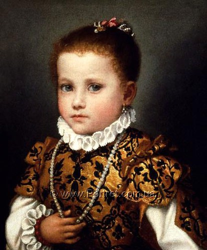 Portrait, painted in epoche of Renecaince.